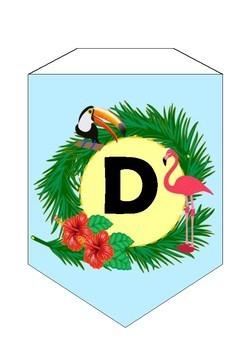 Bunting Alphabet Tropical
