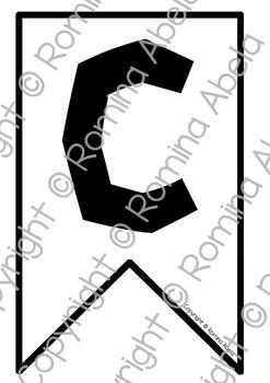 Bunting Banner Alphabet