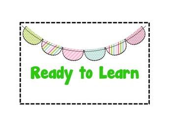 Bunting Banner Behavior Clip Chart