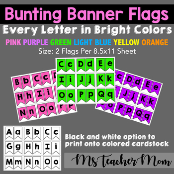 Bunting Banner Flags FREEBIE!