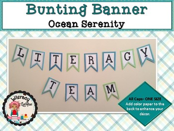 Bunting Banner Letters - Ocean Blue