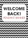 Bunting Banner - WELCOME BACK! (black and red)