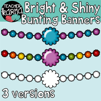 Bunting Banners, Bright & Shiny Style, Border Pennants