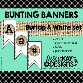 Bunting Banners - Burlap & White