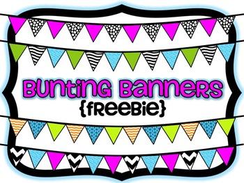 Bunting Banners {Freebie}