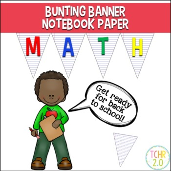 Bunting Banners Notebook Paper