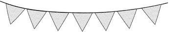 Bunting Banners / Pennant Banners Clip Art - Black and White!! 51 Images!