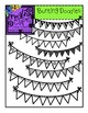 Bunting Banners and Doodles {Creative Clips Digital Clipart}