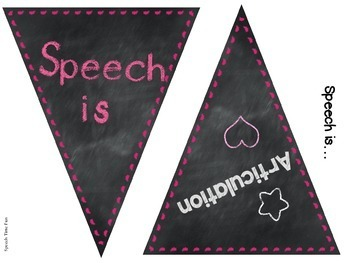 Bunting Banners for SLPs!
