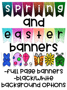 Bunting Bulletin Board Banners for Spring and Easter