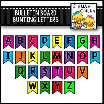 Bulletin Board Bunting Letters