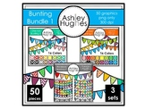 Bunting Clipart Bundle 1 {A Hughes Design}