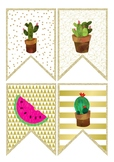 Bunting - Cactus, Watermelon and Flamingo