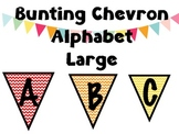 Bunting Chevron Alphabet Large Upper Case
