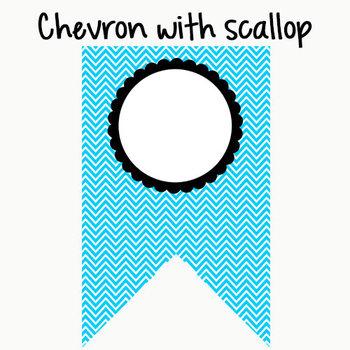 Bunting: Chevron Print with Editable Text