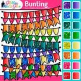 Bunting Clipart: Rainbow Glitter Flags & Banners {Glitter Meets Glue}