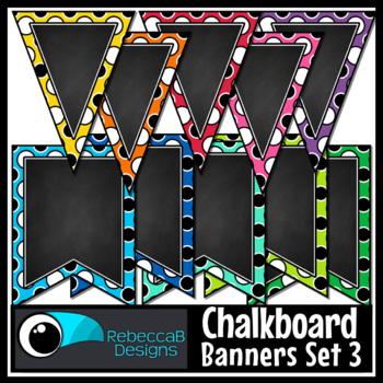 Bunting Clip Art: Classroom Bunting, Chalkboard Pennant Fl