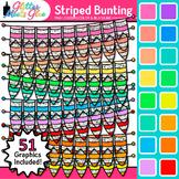 Striped Bunting Clip Art: Rainbow Glitter Flags & Banners {Glitter Meets Glue}
