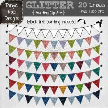 Bunting Clip Art {Glitter}