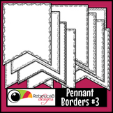 Pennant Doodle Borders Clip Art Set 3