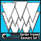 Single Point Pennant Borders Set 1