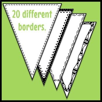 Single Point Pennant Borders Set 2