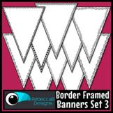 Single Point Pennant Borders Set 3