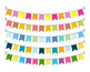 Bunting Clipart, Bunting Banner Graphics, Garland Clipart, Bunting SVG, Birthday