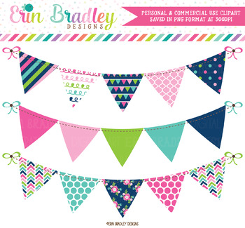 Bunting Clipart Cheery Day Banner Flags