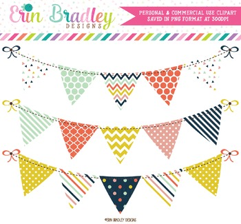 Bunting Clipart - Craft Party Collection