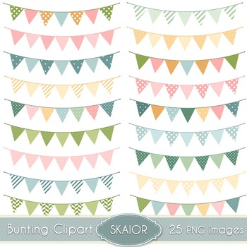 Bunting Clipart Flags Clip Art Garland Banners Polka Dot Scrapbooking Party
