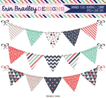 Bunting Clipart - Triangles Collection