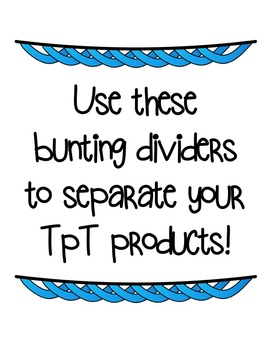 Bunting Dividers Clipart