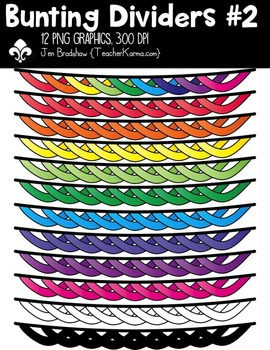 Bunting Dividers #2 Clipart ~ Commercial Use OK ~ Banners