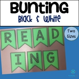 Bunting Letters and Numbers - Black & White