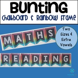 Bunting Letters and Numbers - Chalkboard & Rainbow Frame