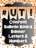 Bunting Letters and Numbers - Orange Bulletin Board Letters