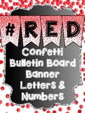 Bunting Letters and Numbers - Red Bulletin Board Letters