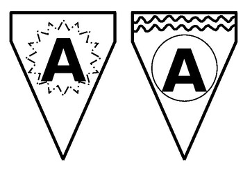 Bunting Letters for Classroom Banners or Bulletin Boards - Editable