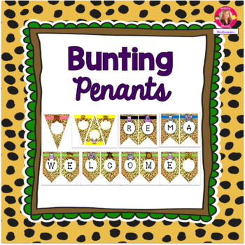 Bunting Pennants {Jungle-Safari Themed}