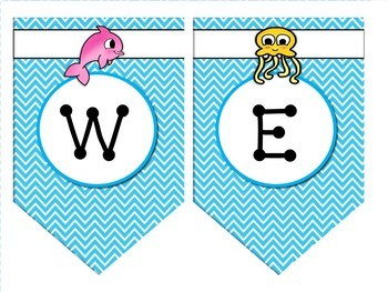 Bunting Pennants {Ocean Themed}