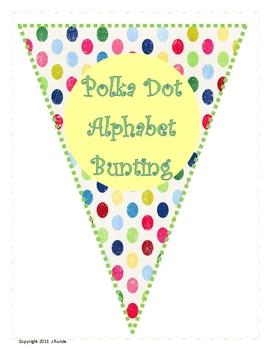 Bunting - Polka Dot Alphabet