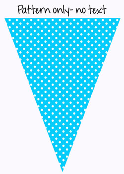 Bunting: Polka Dot Print with Editable Text