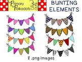 Bunting {Primary Polka Dots Clip Art}