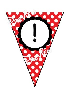 Bunting - Red & White Polka Dot Alphabet