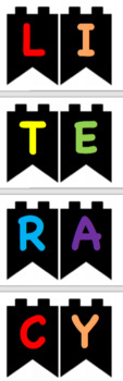 Bunting Sign for Classroom EDITABLE