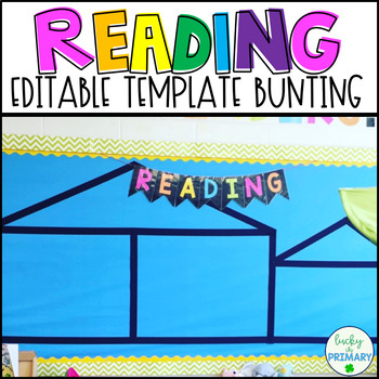 "Bunting Template ""Reading"" Bulletin Board Banner"