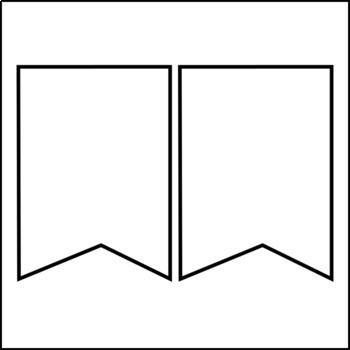 bunting template reading bulletin board banner by lucky in primary