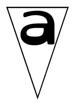 Bunting- alphabet lower case