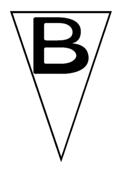 Bunting- alphabet upper case